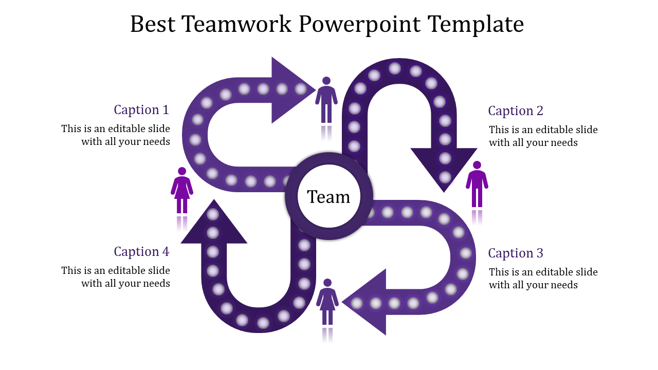The Art Of Teamwork Powerpoint Template