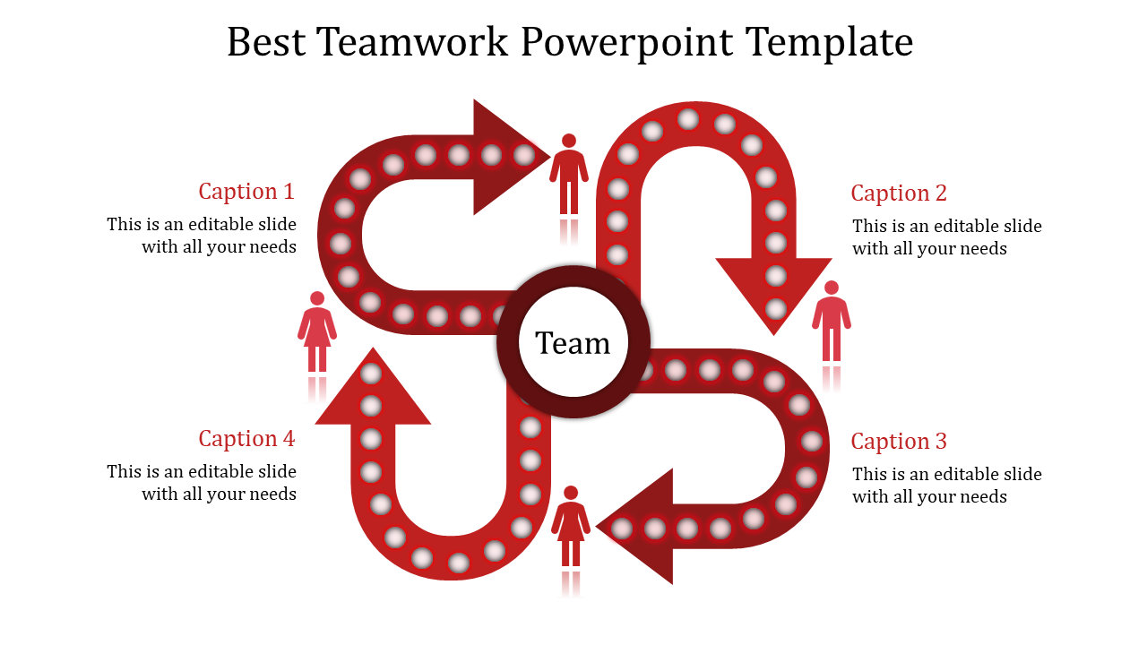 Facts About Teamwork Powerpoint Template