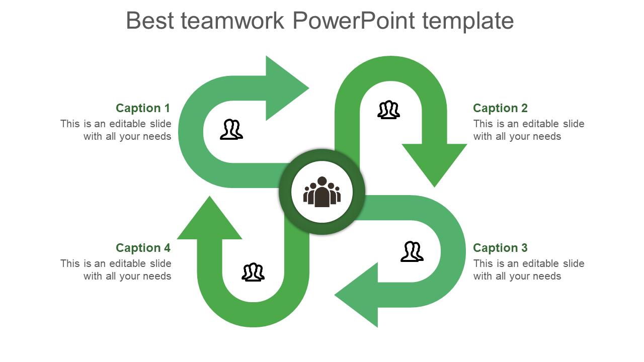 Infographic Teamwork Powerpoint Template