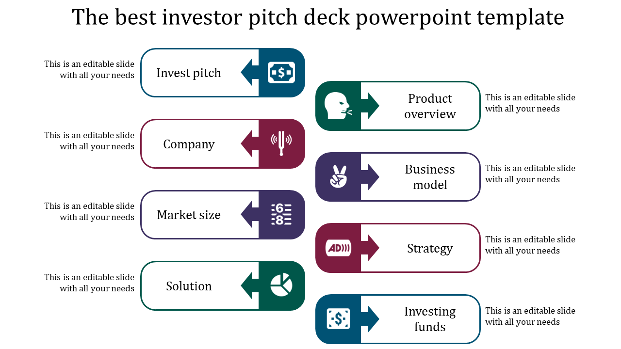 Best Things About Investor Pitch Deck Powerpoint Template