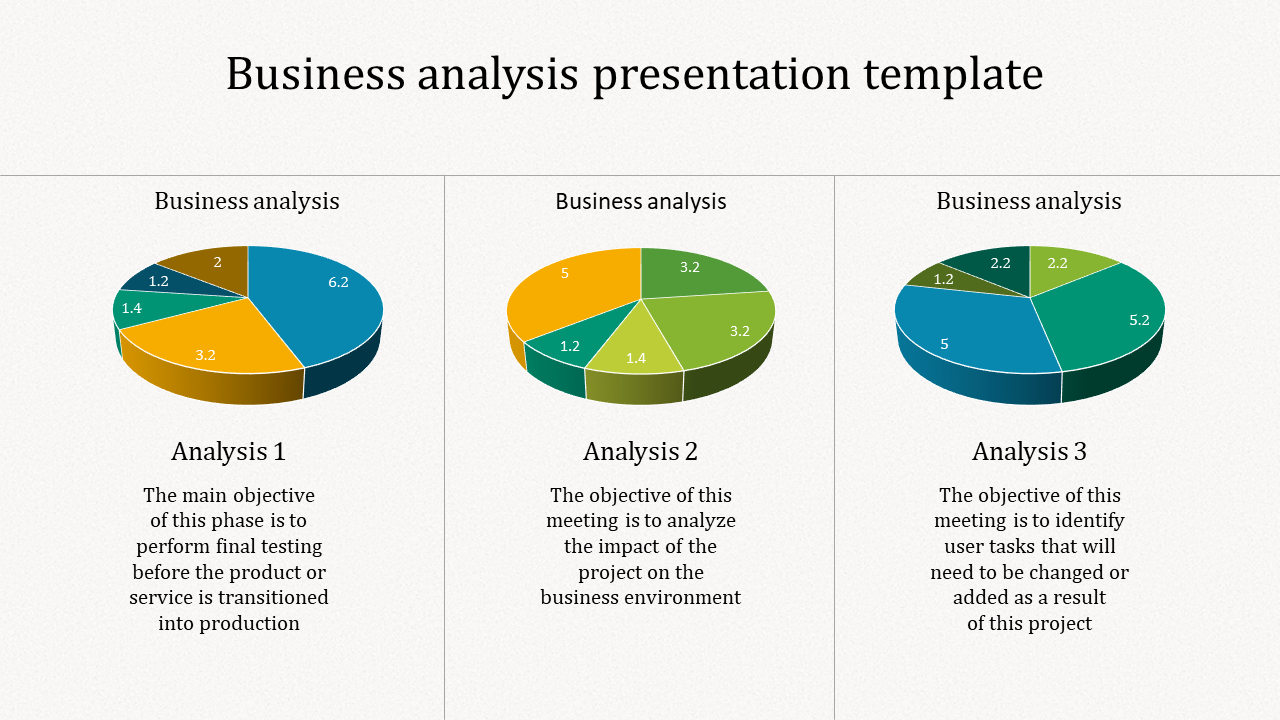 A three noded business analysis presentation template