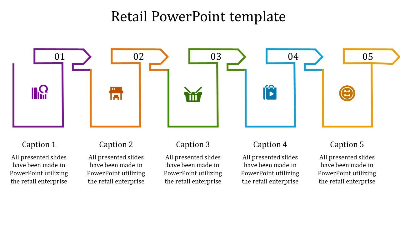 A Five Noded Retail Powerpoint Template
