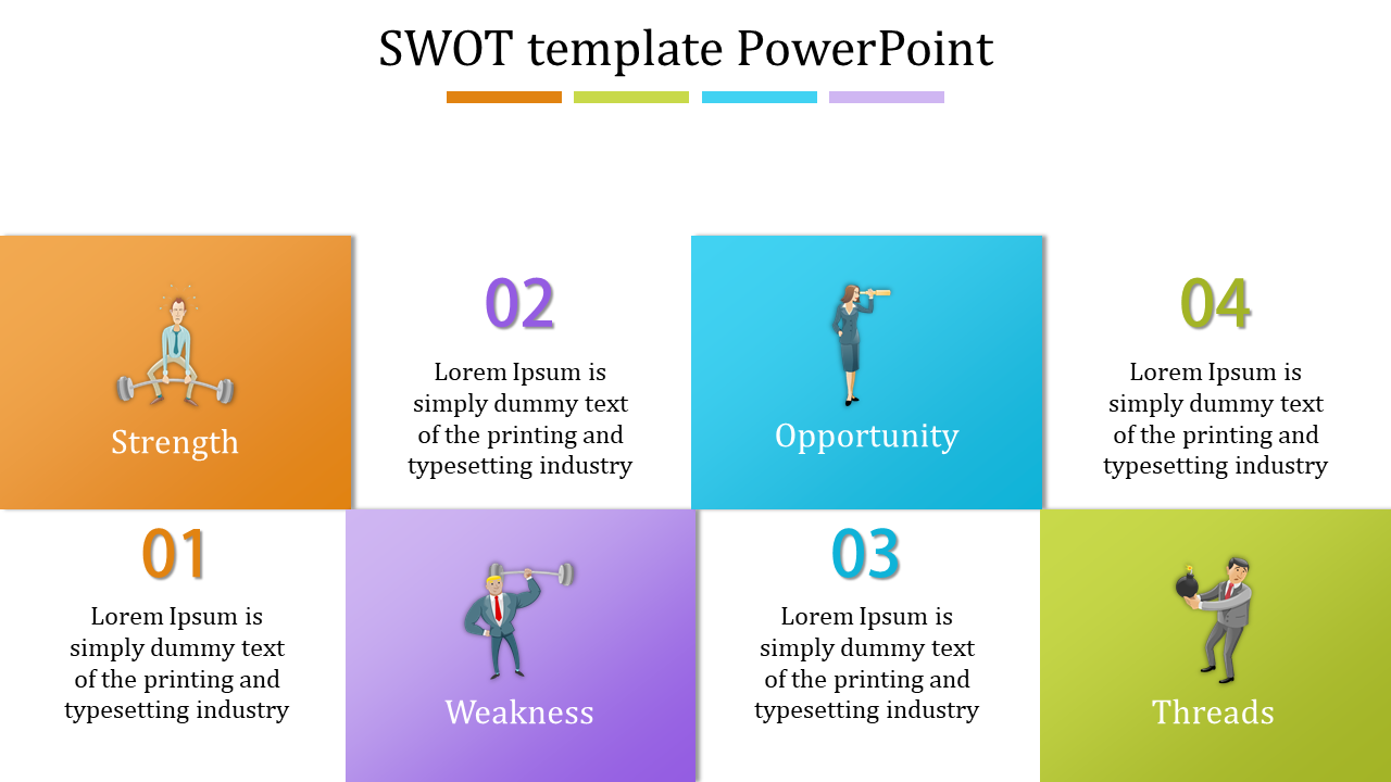 Patterned swot template powerpoint