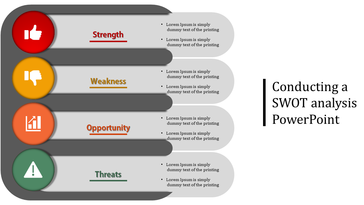 Horizontal Conducting A SWOT Analysis Powerpoint