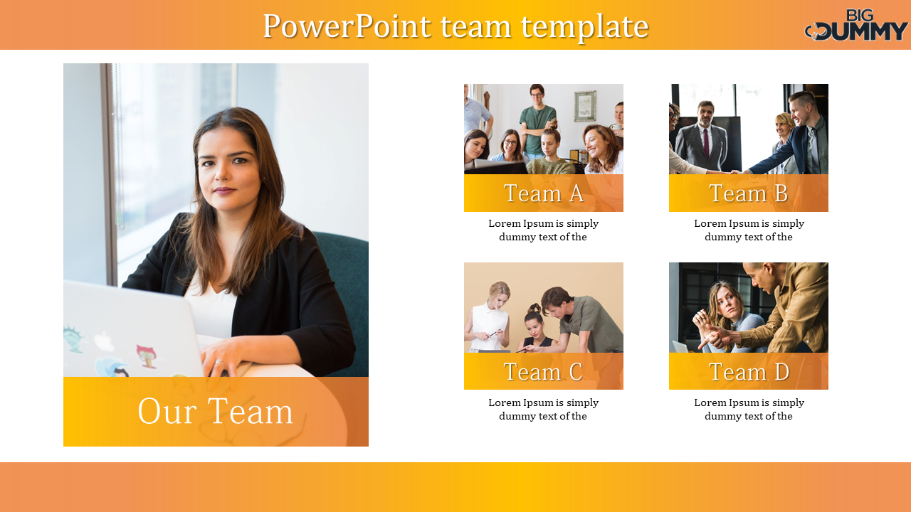 Corporate PowerPoint Team Template