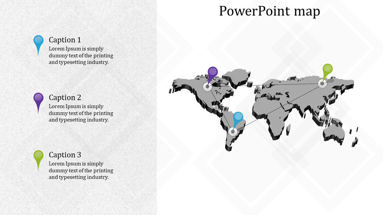 Country PowerPoint map