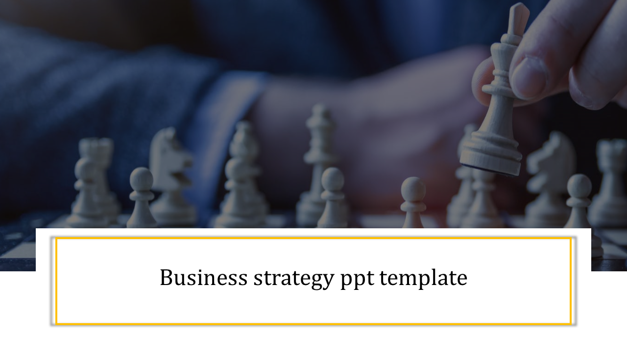 Business strategy PPT template for competitors