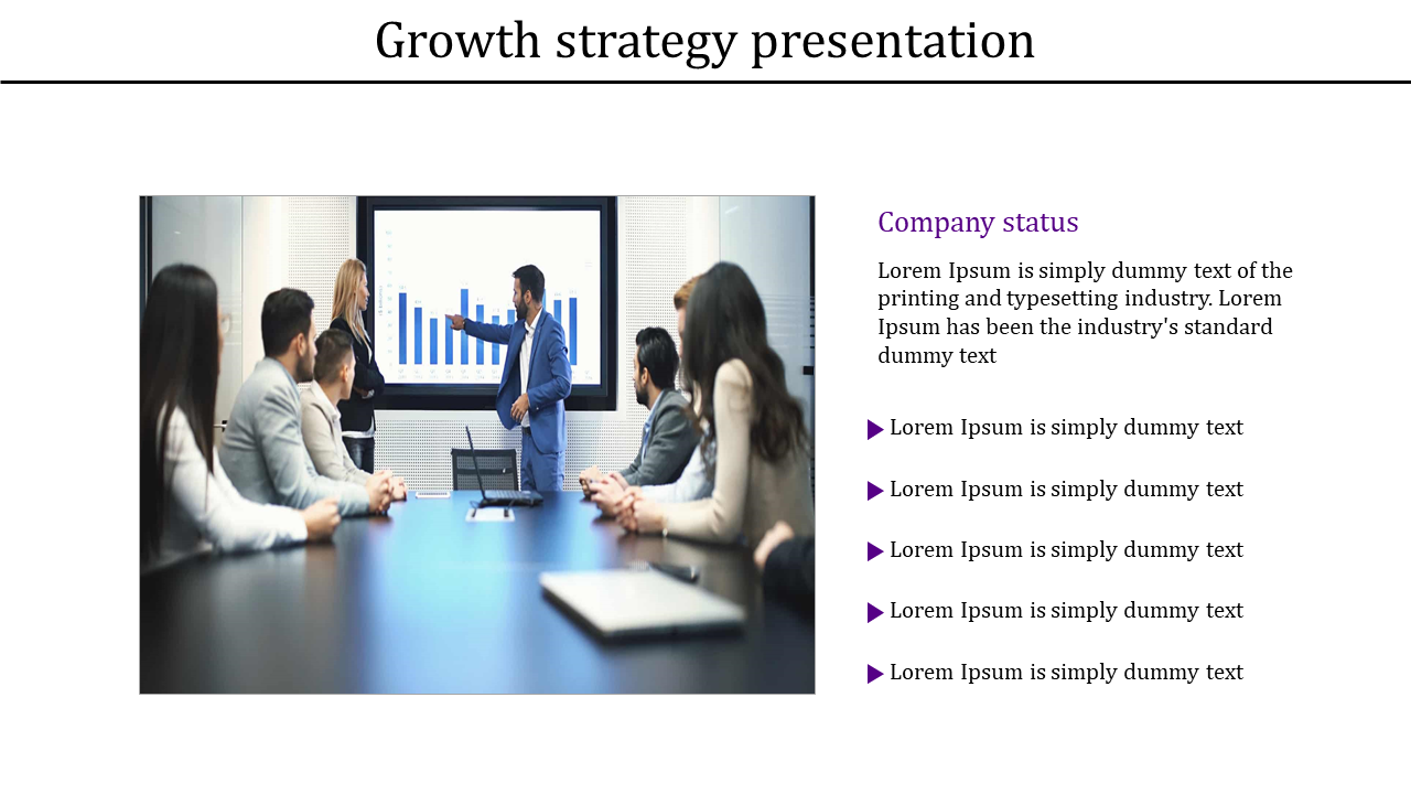 Corporate growth strategy presentation