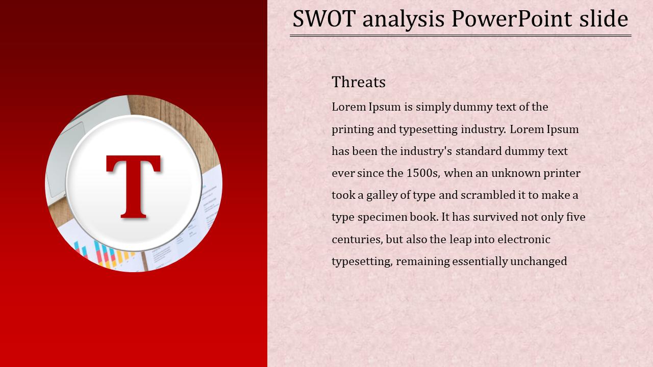 Threats SWOT Analysis PowerPoint Slide