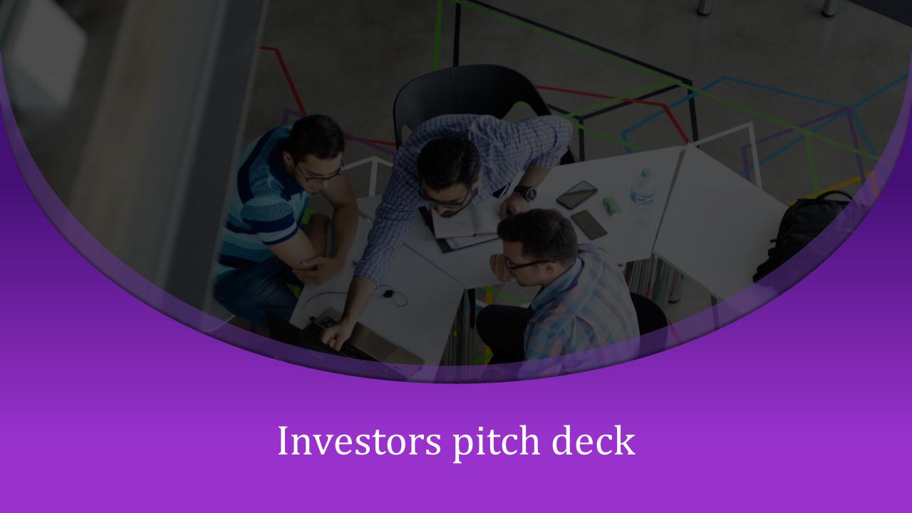 Curved Shape Investor Pitch Deck PPT