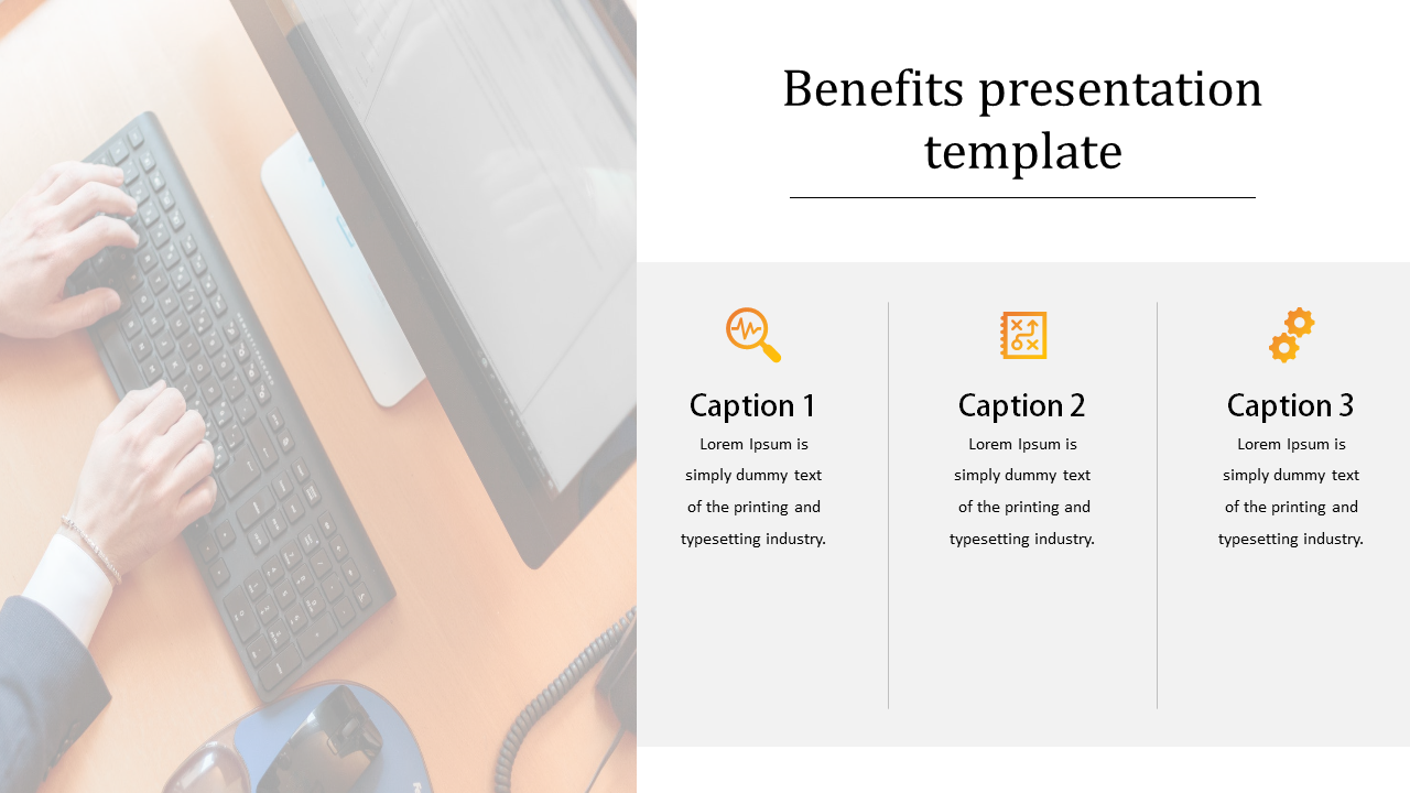 benefits presentation template for business strategy