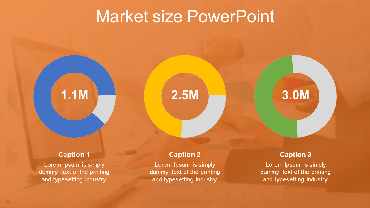 Market Size PowerPoint For Corporate Company