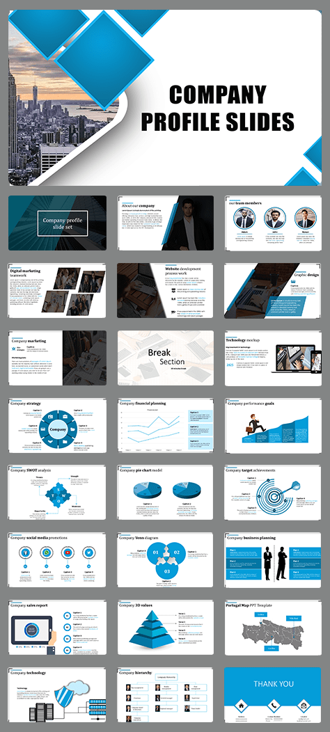 Effective company profile template PPT