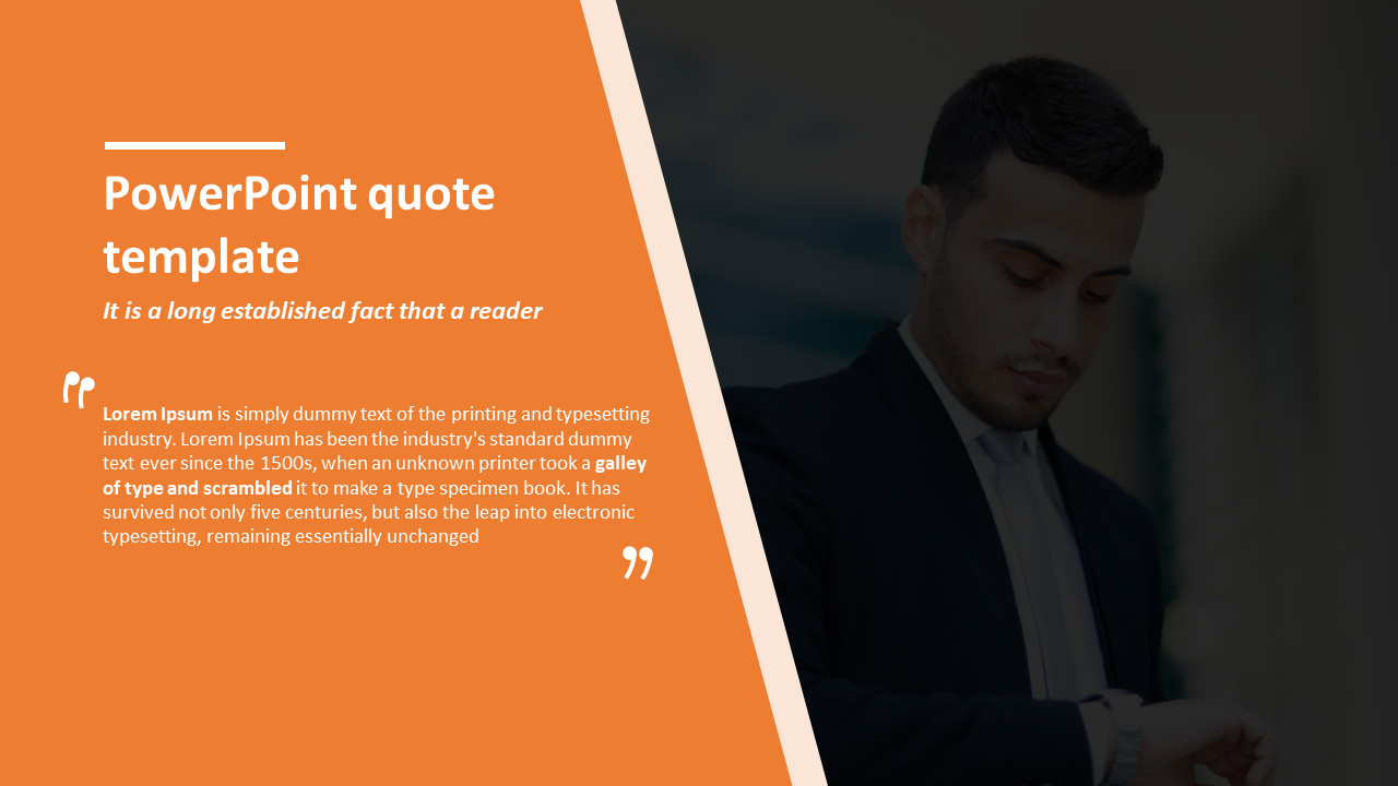 powerpoint quote template about Company