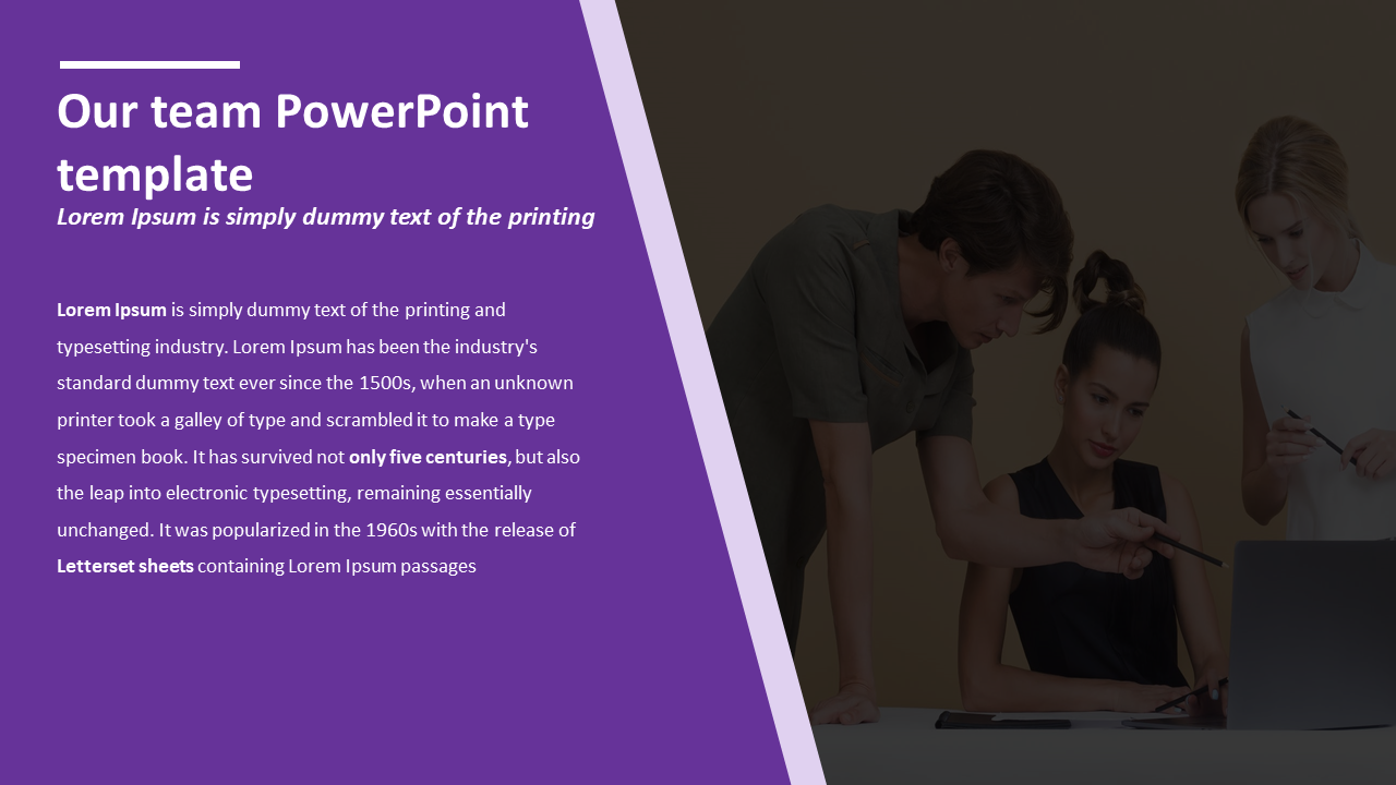 Effective our team powerpoint template