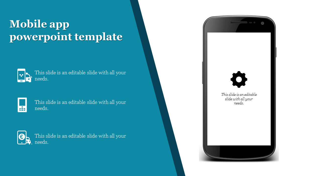 mobile app powerpoint template presentation PPT
