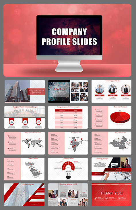 Effective company profile PPT presentation