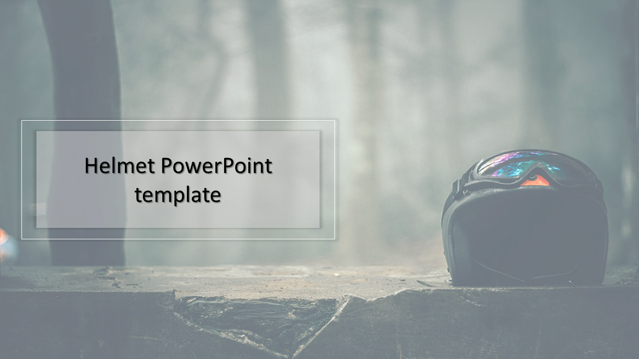 A one noded Helmet PowerPoint template