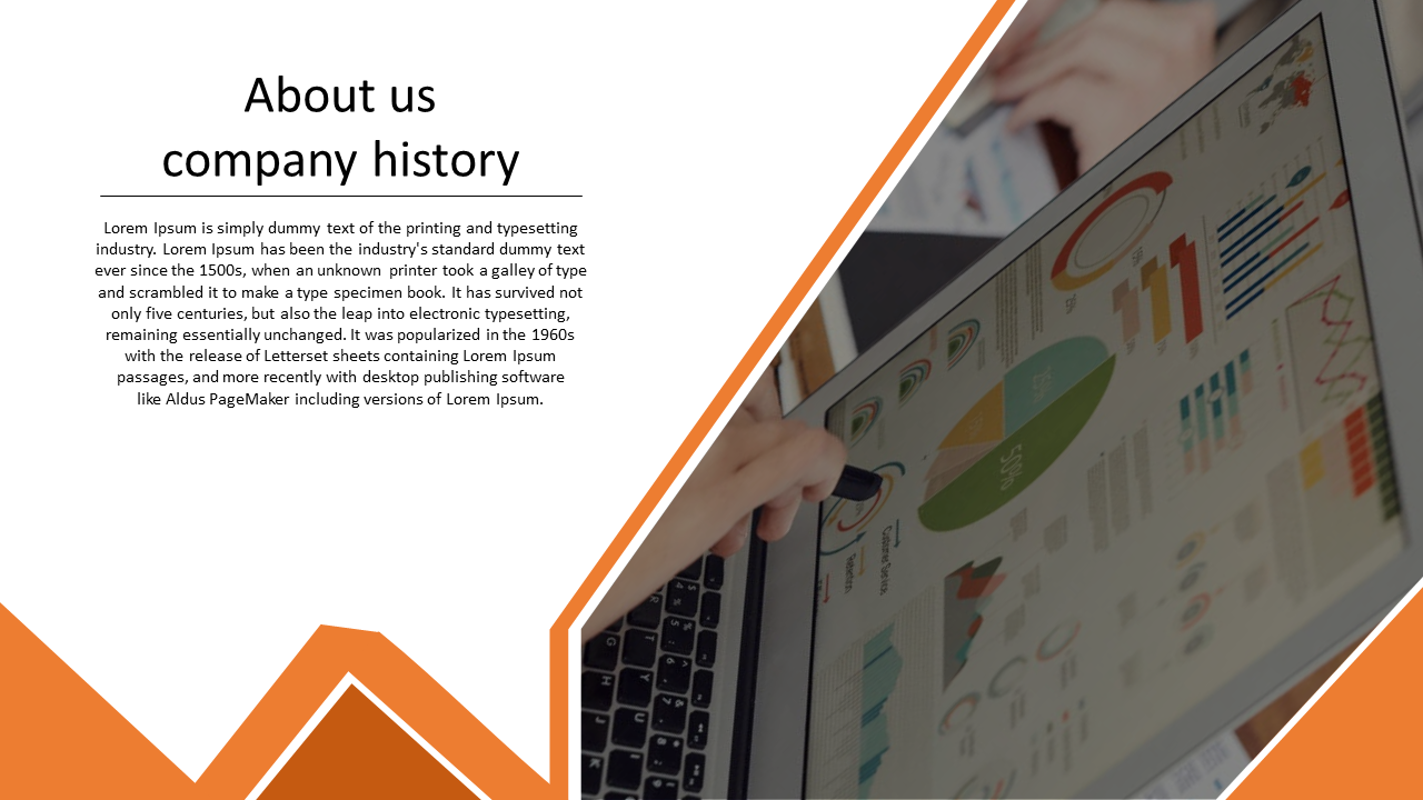 A One Noded About Us Powerpoint Template