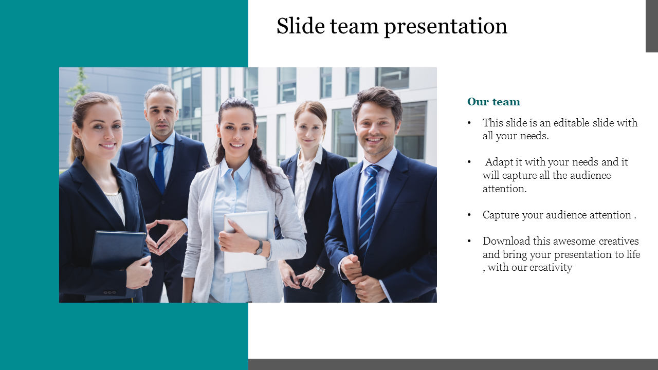 Free-slide Team Presentation PowerPoint