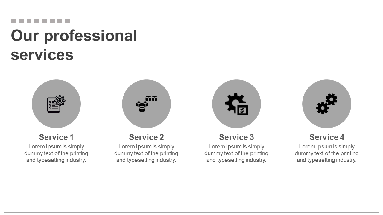 Professional Services Presentation - Horizontal Model