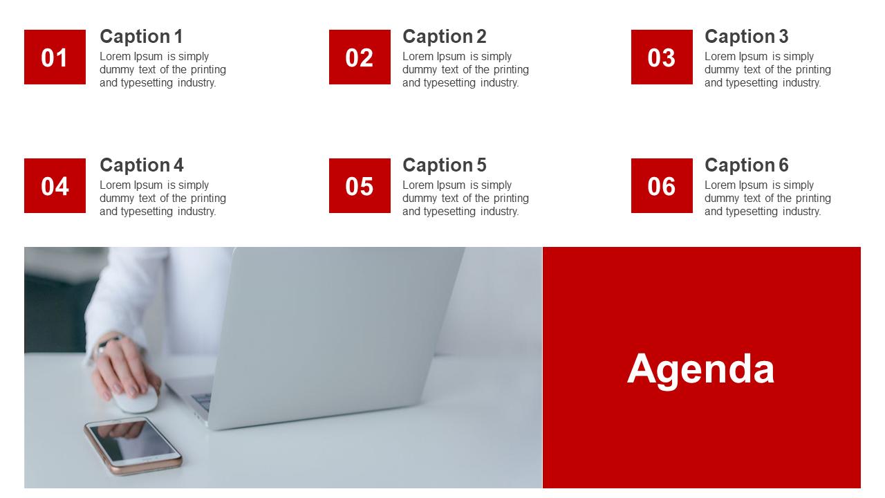 Agenda PPT Design Portfolio Model