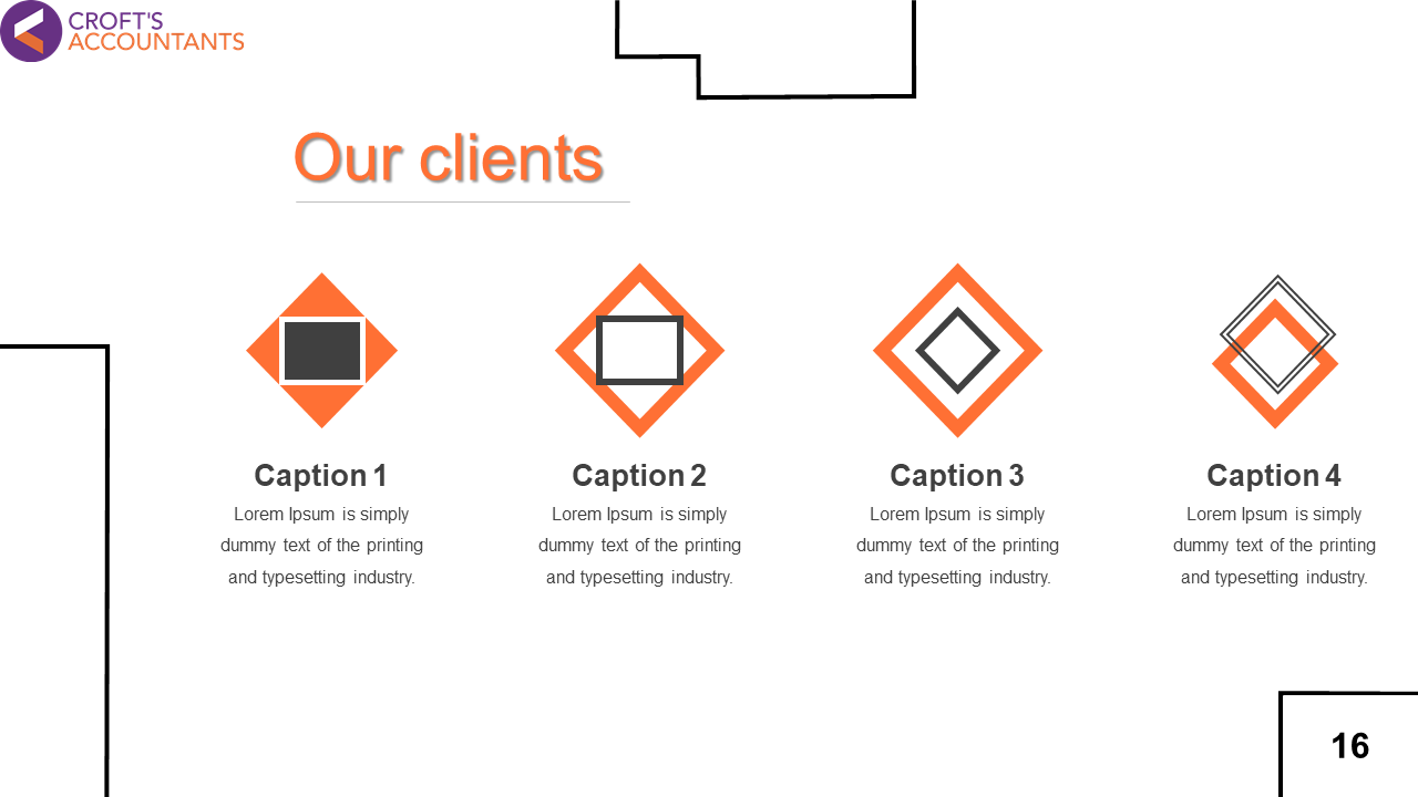 Our Clients Presentation Template PowerPoint