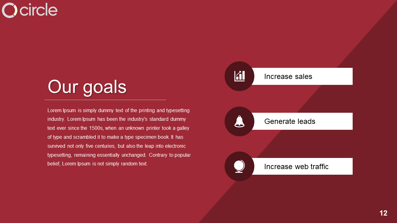 Free-Achieve Marketing Goals Presentation Template