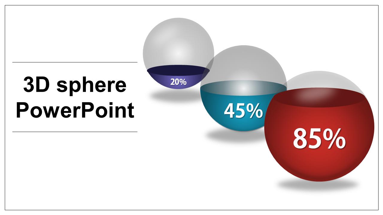 3d Sphere Powerpoint Template