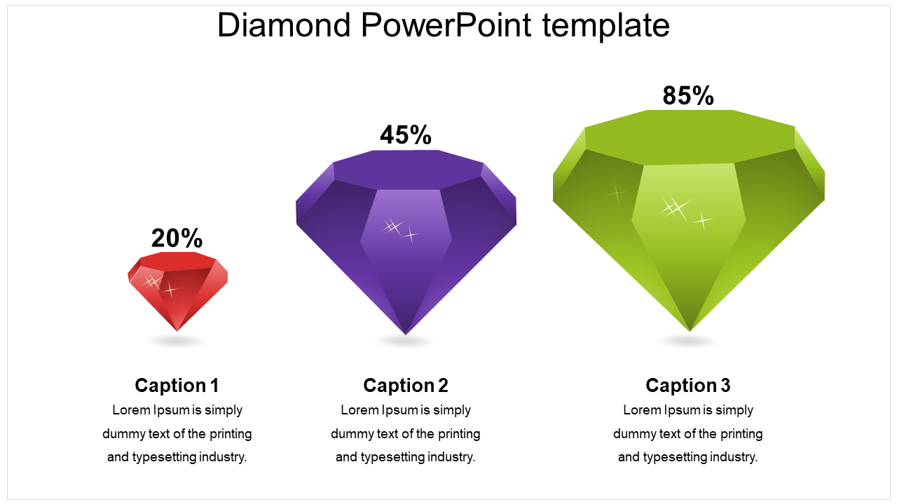 Diamond PowePoint Template Model