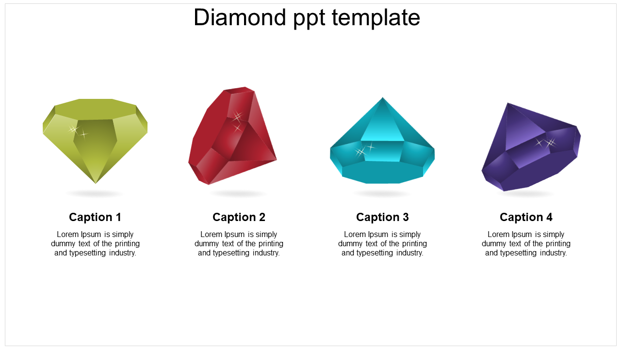 Diamond PPT Template Slide