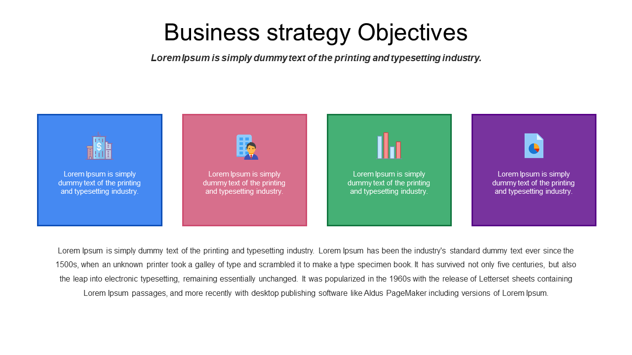 Business Plan Strategic Objectives PowerPoint Slide