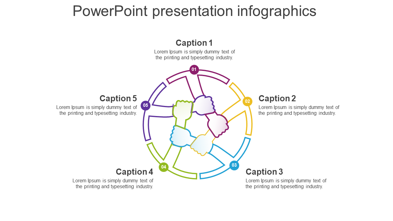 Powerpoint Presentation Infographics Template Slide