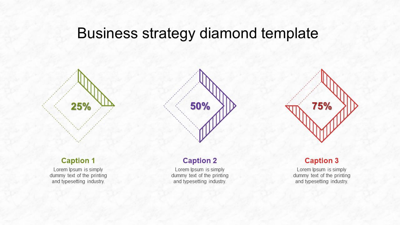 Business Strategy Diamond Template Presentation