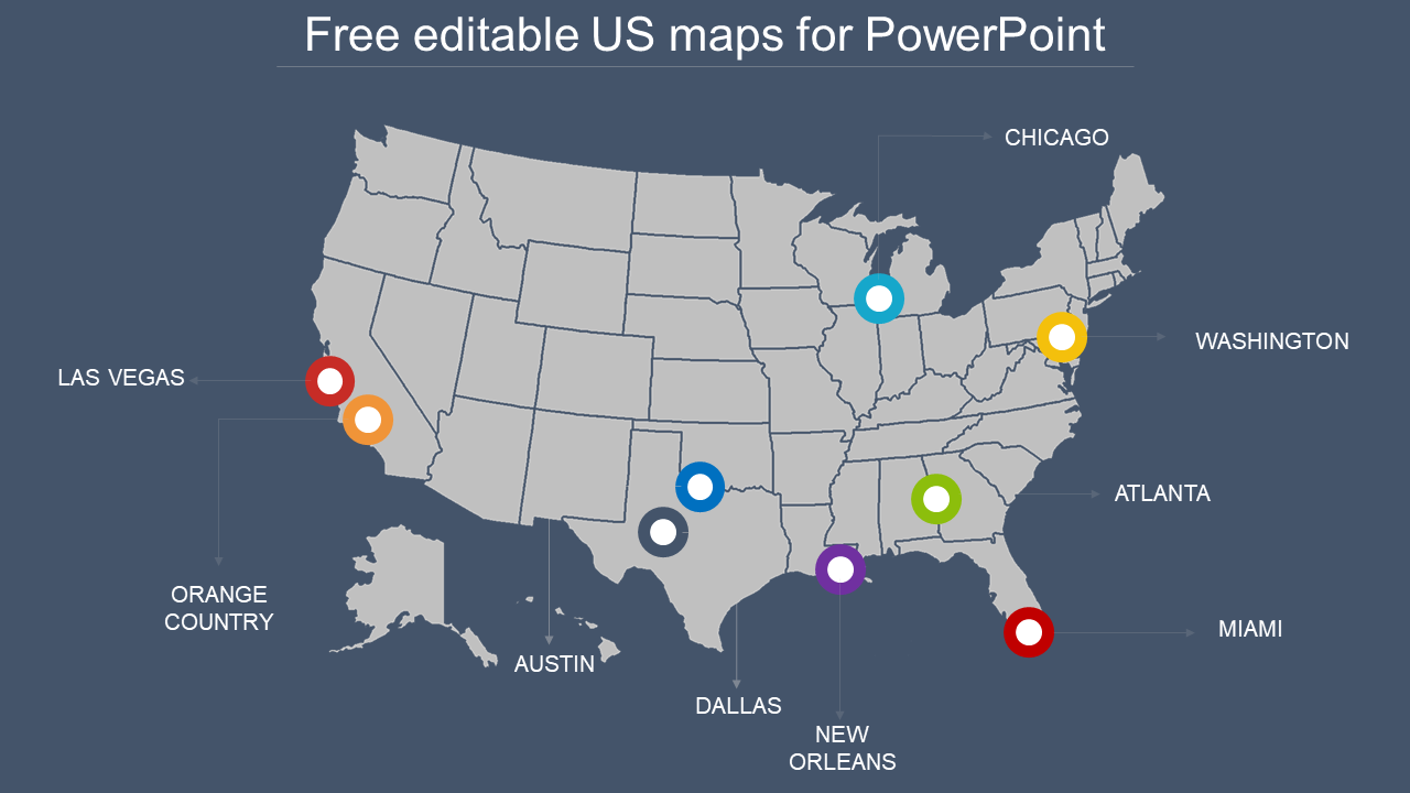 Editable Us Map Download Free editable us map for PowerPoint design  SlideEgg
