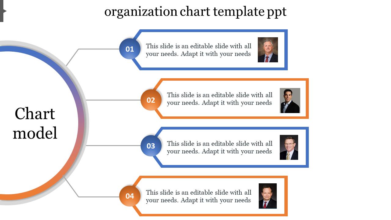 Organization Chart Template PPT Semi Circle Model