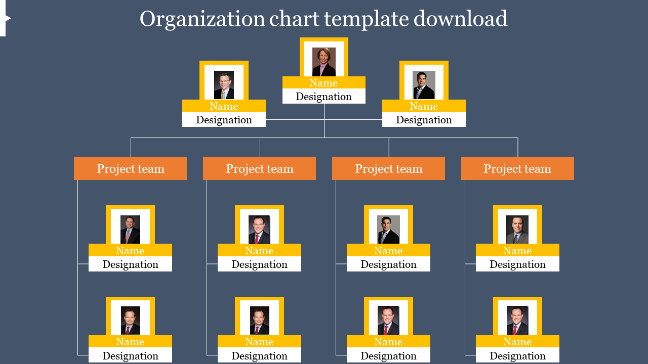 Organization Chart PPT Template Download Frame Model
