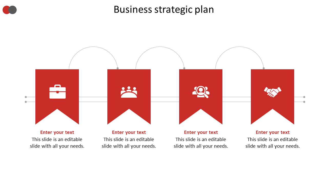 Business Strategic Plan Arrow Model