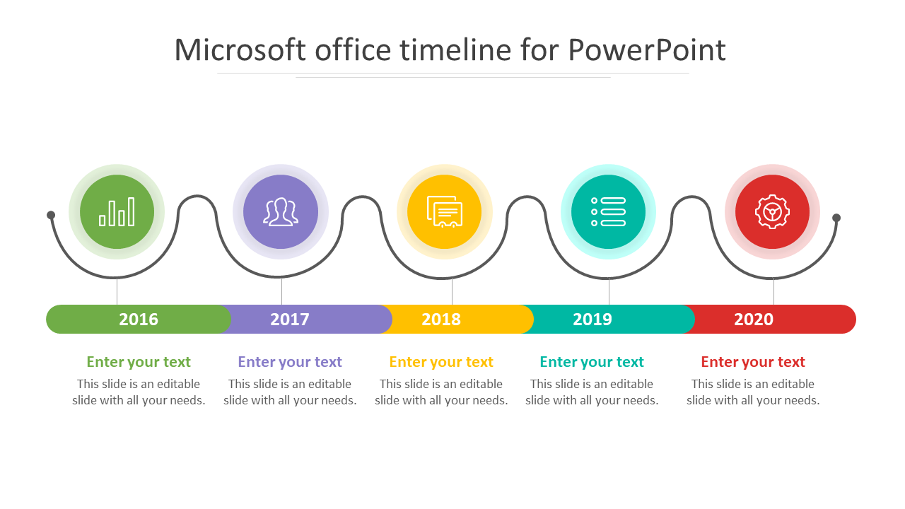 Microsoft Office Timeline For Powerpoint Slide