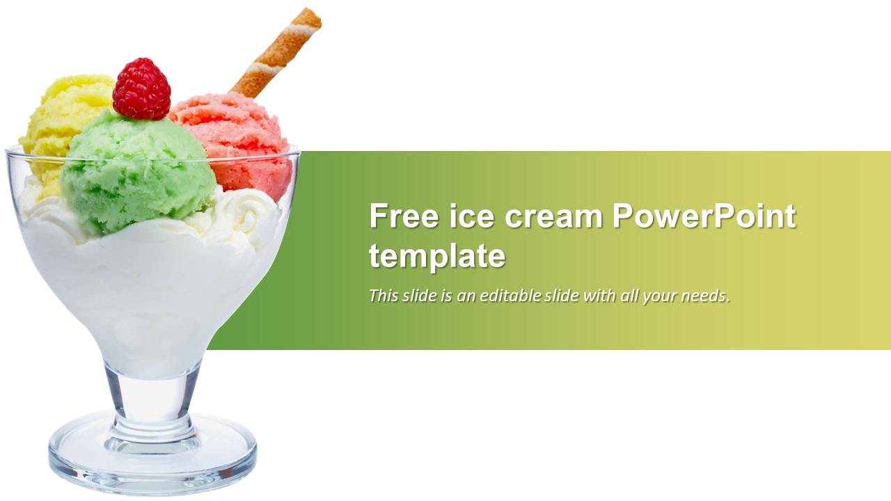 Free Ice Cream Powerpoint Template Presentation Slideegg