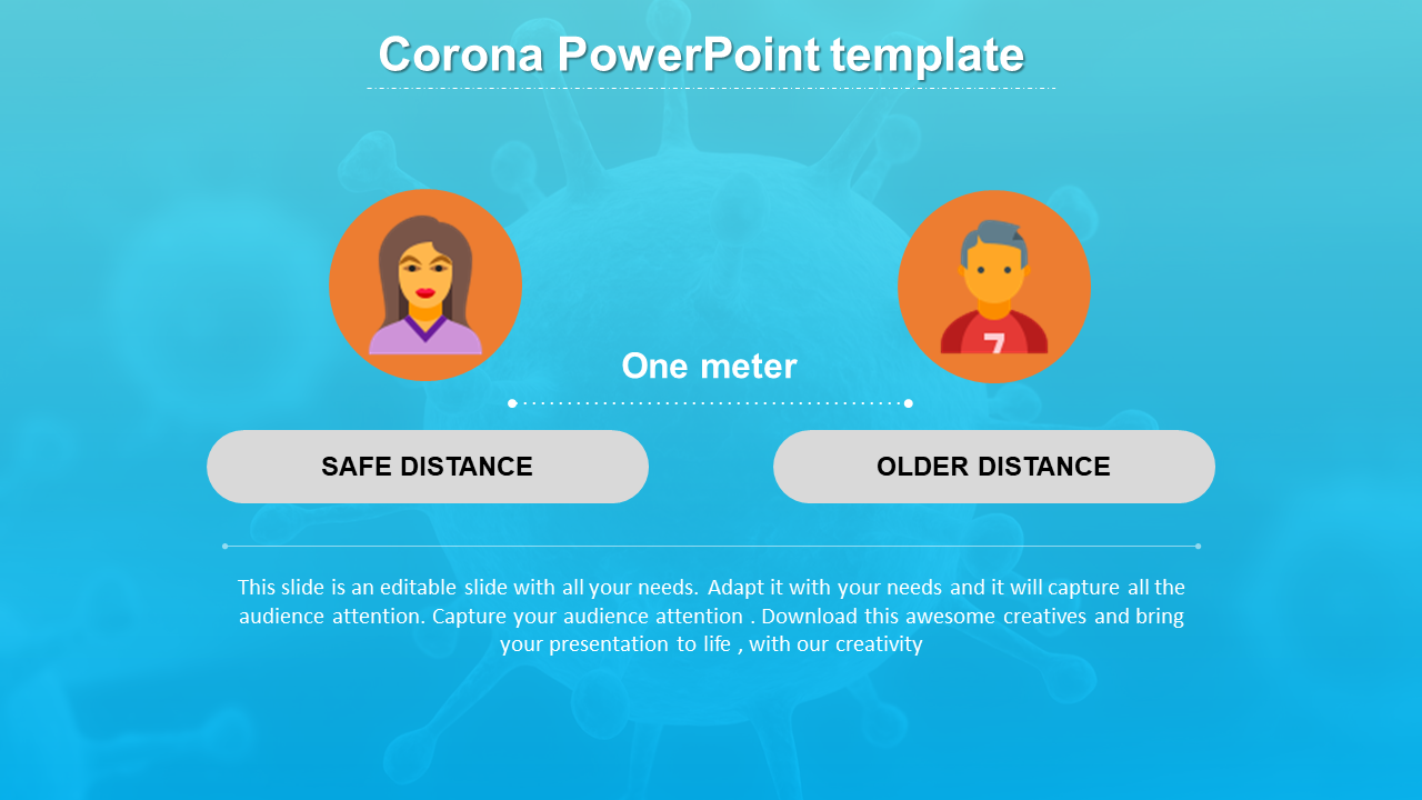 Corona PowerPoint Template With Background