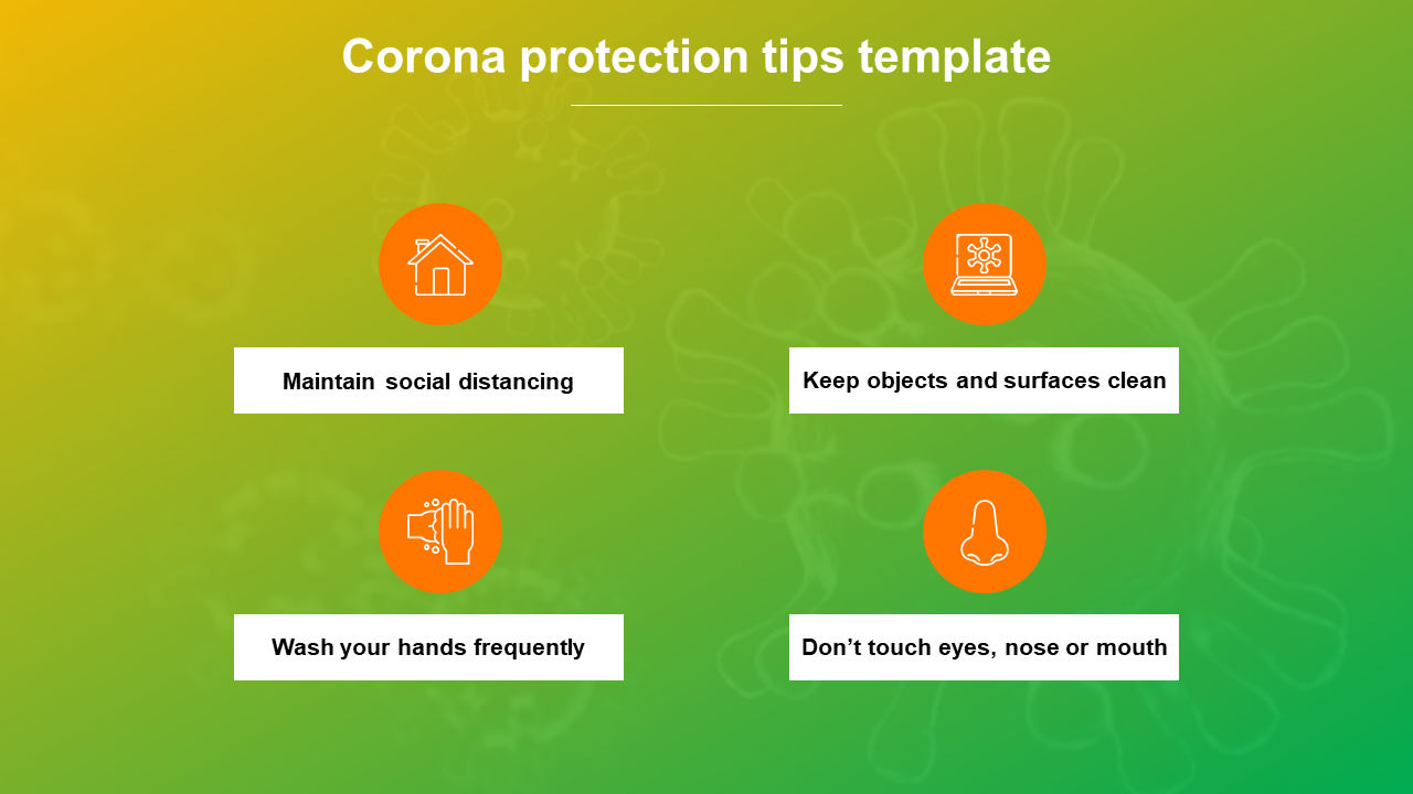 Corona Protection Tips Template Presentation