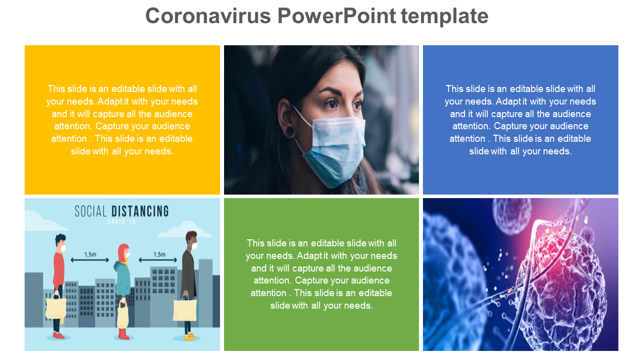 Coronavirus PowerPoint Template Portfolio Design