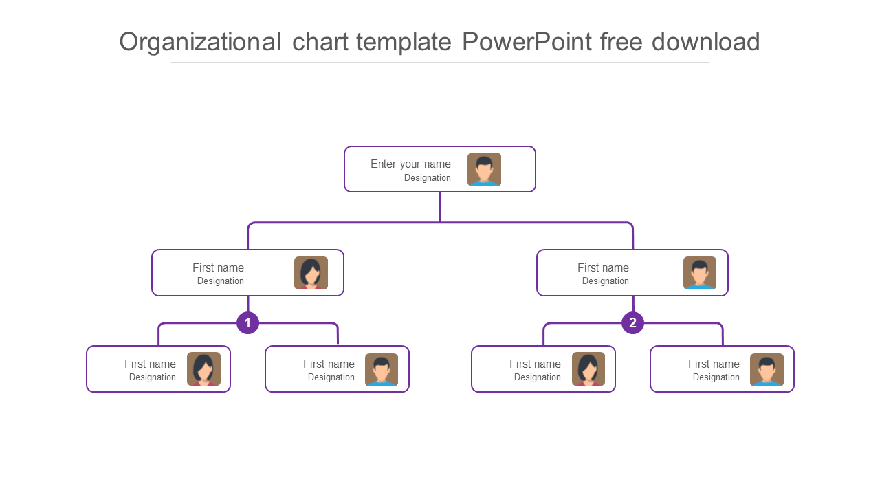 Free - Organizational Chart Template Powerpoint Free Download Model
