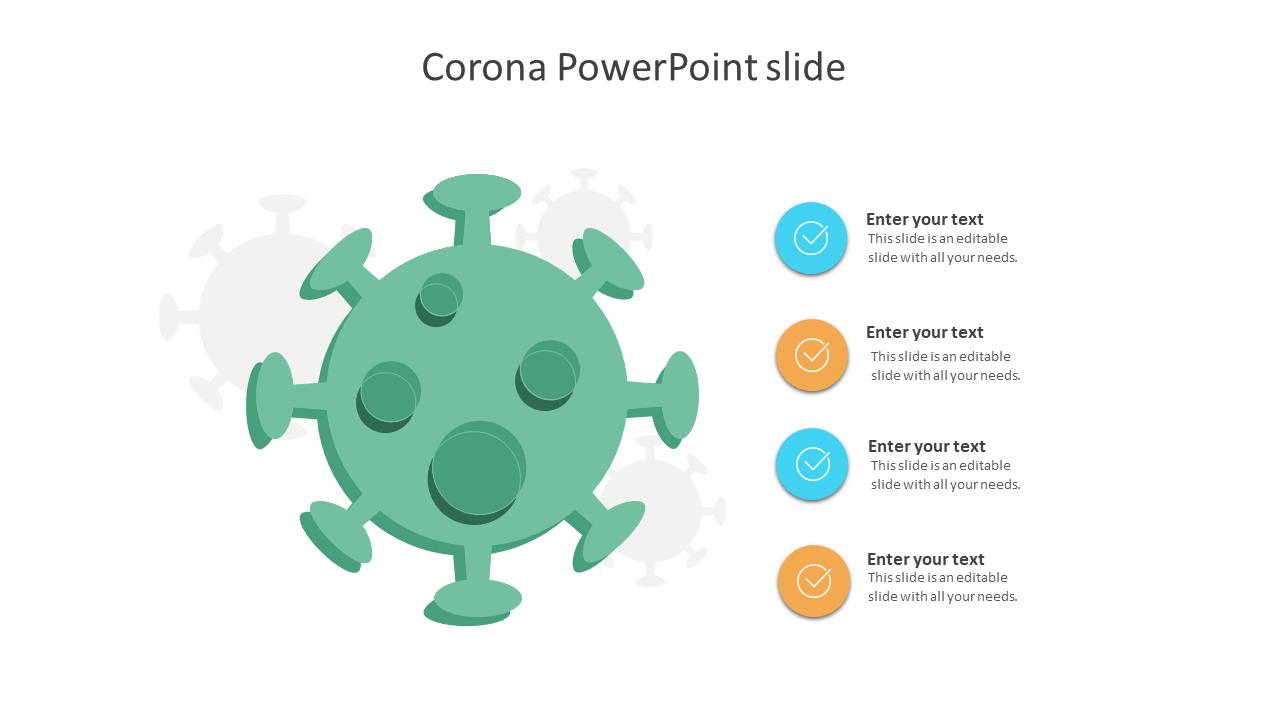 Coronavirus PowerPoint Slide Design