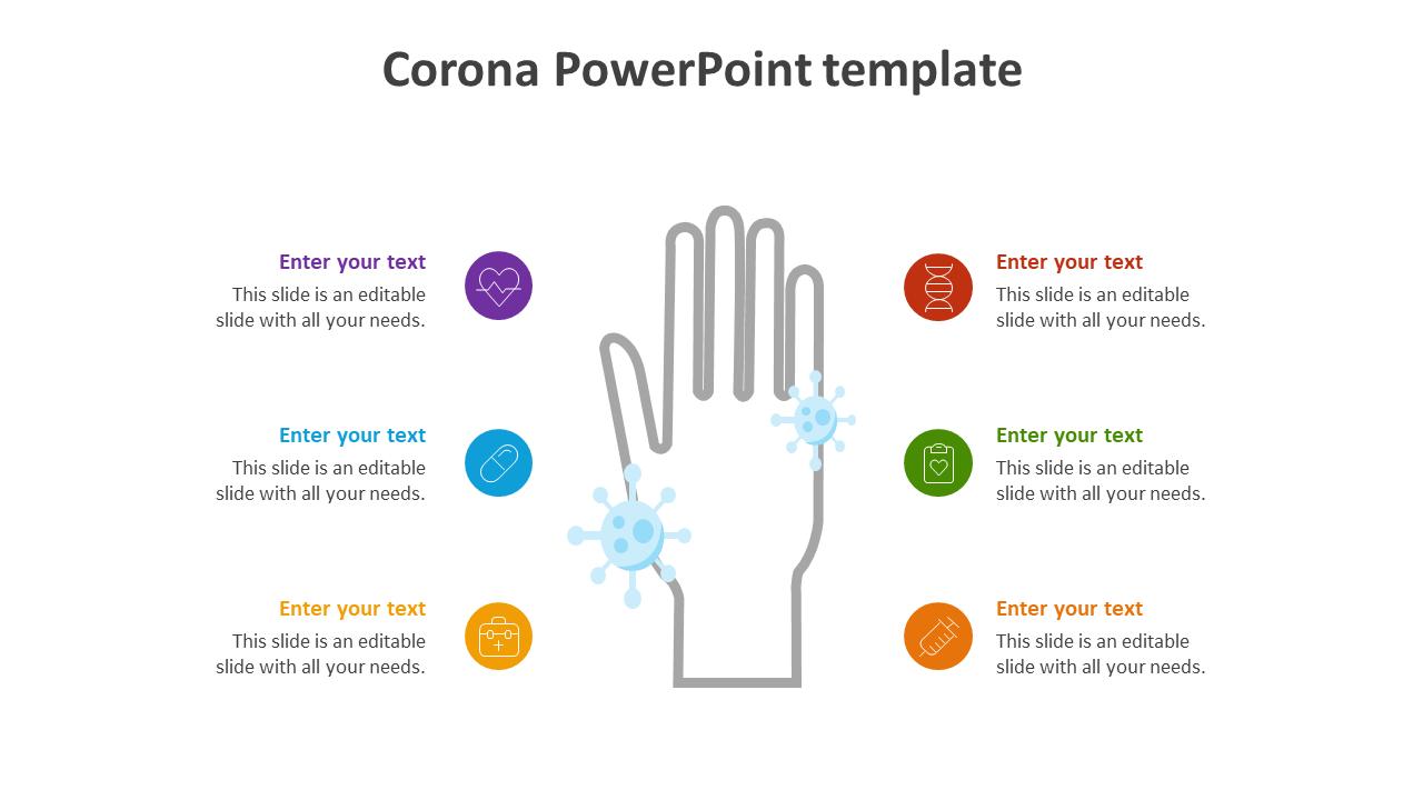 Corona PowerPoint Template Slide