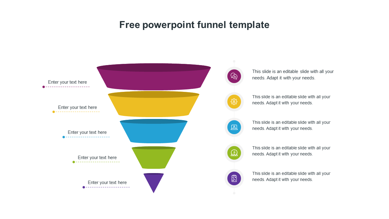 Free Powerpoint Funnel Template Design