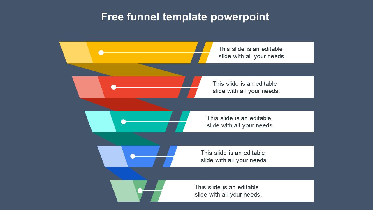 Free Funnel Template Powerpoint Slide