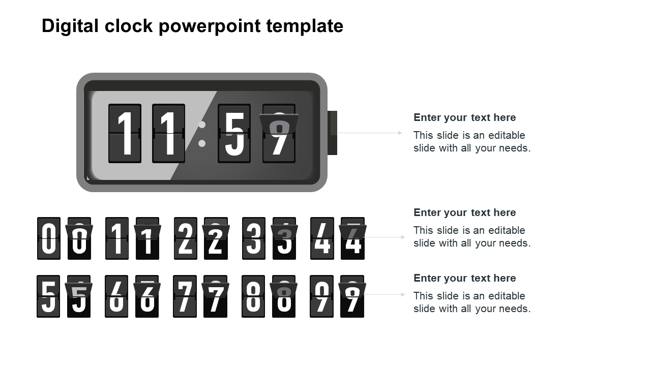 Digital Clock Powerpoint Template Presentation Slideegg