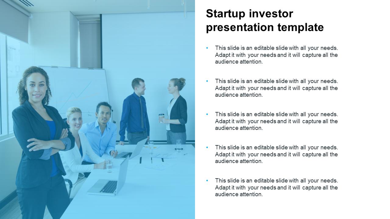 Startup Investor Presentation Template Design